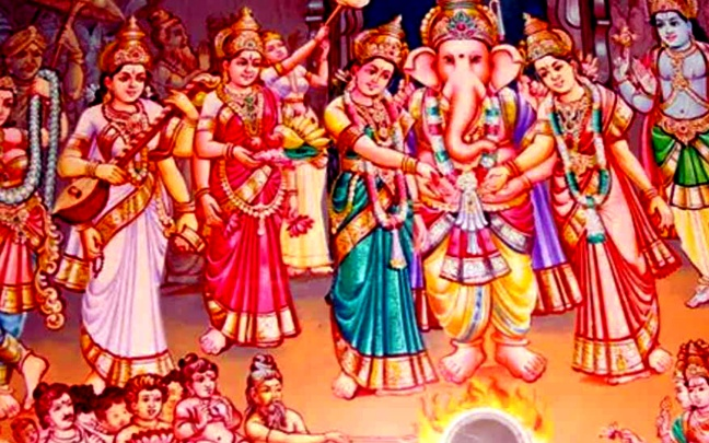 Worship of Ganesh family will be fulfilled How Lord Ganesha got married - @worldcreativities