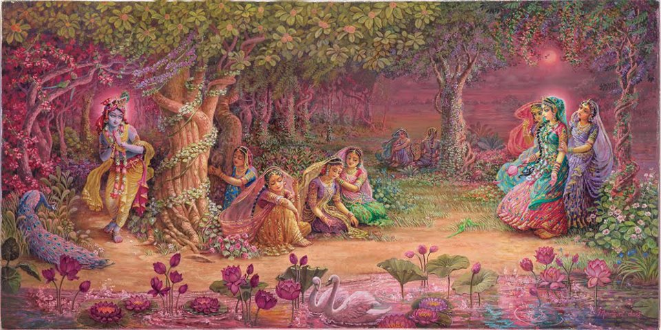 Sri Radha-Krishna is still in Nidhivan even today. Makhan Mishri's Prasad ends daily - @worldcreativities