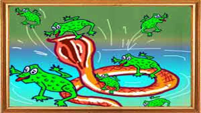 Frogs That Rode A Snake Panchatantra Story In Hindi