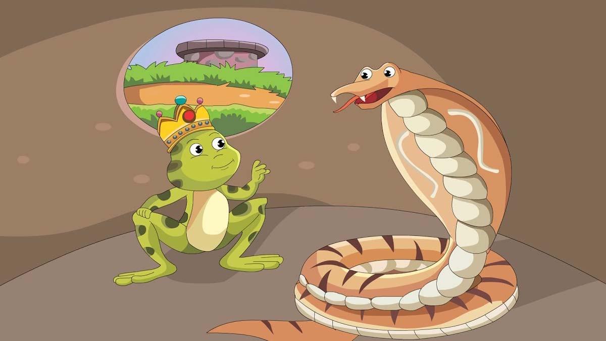 लालची नागदेव और मेढकों का राजा – The Greedy Cobra And Frog King Panchatantra Story In Hindi | पंचतंत्र