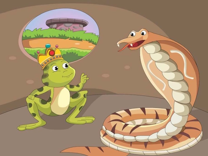 The Greedy Cobra And Frog King Panchatantra Story In Hindi