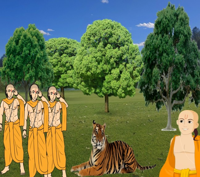 The Lion That Sprang To Life Panchatantra Story In Hindi