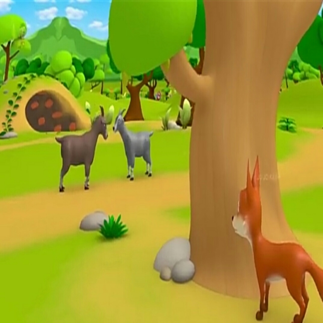 Fighting Goats & The Jackal Panchatantra Stories In Hindi