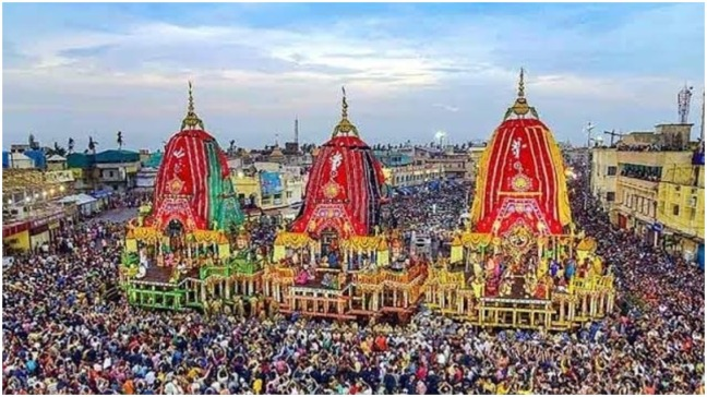Lord Jagannath's 'Bahuda Yatra' amidst tight security in Puri, devotional atmosphere amidst the conch shell