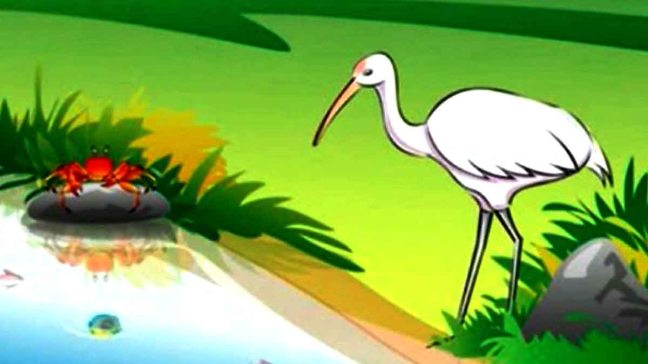 The Crane And The Crab Panchatantra Story In Hindi