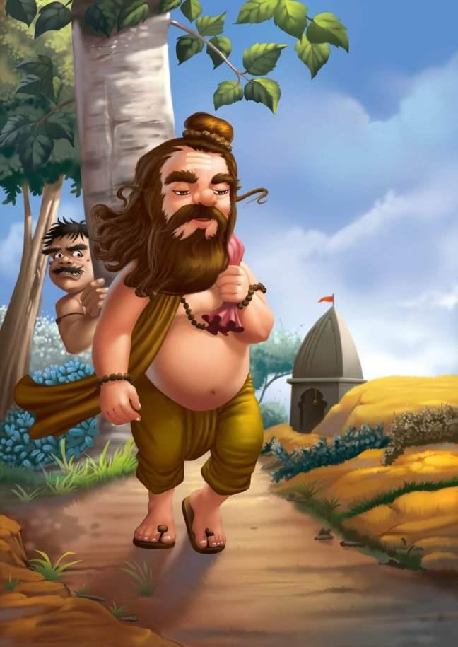 The Foolish Sage & Swindler Panchatantra Stories In Hindi